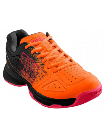Кроссовки детские Wilson Stroke Junior Shock (Orange/Black/Neon Red)