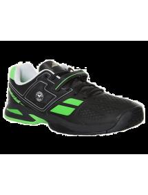 Кроссовки детские Babolat Propulse BPM Wimbledon Junior (Черный/Зеленый)