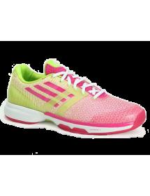 Кроссовки женские Adidas Adizero Ubersonic (Пурпурный/Лайм)