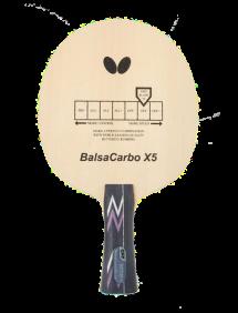Ракетка для настольного тенниса сборная Butterfly Balsa carbo X5, накладки Tenergy 05 FX