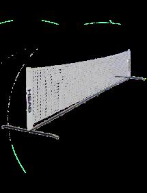 Теннисная сетка Z-Sport тренировочная, 4.5м, с каркасом