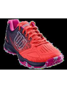 Кроссовки женские Wilson Kaos Comp W (Fiery Coral/Blue/Pink)