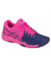Кроссовки детские Asics Gel-Resolution 7 GS (Pink Glo/Blue Print)