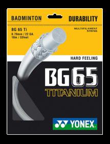 Струны для бадминтона Yonex BG65 Titanium 10m