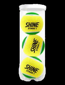 Теннисные мячи Shine Stage 1 Green x3