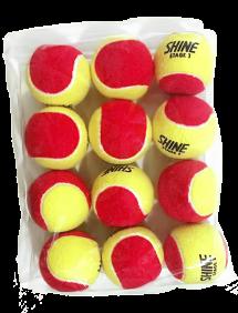 Теннисные мячи Shine Stage 3 Red x12