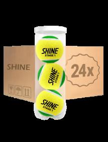 Теннисные мячи Shine Stage 1 Green 72 (24x3)