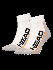 Носки Head Stripe Quater 2pair Unisex (Белый/Серый)