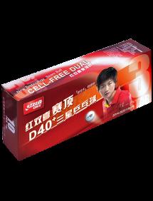 Мячи для настольного тенниса DHS *** Dual 40+ x10